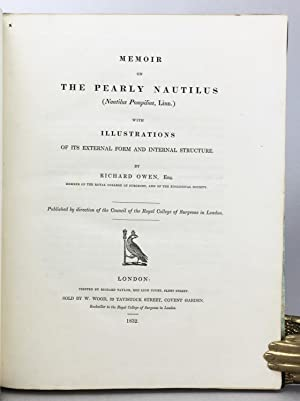 Memoir on the Pearly Nautilus (Nautilus pompilius, Linn.) with illustrations on its external form ...