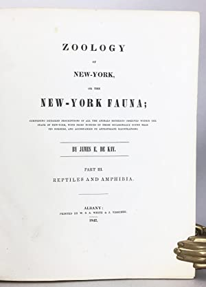 Zoology of New York or the New York Fauna, Part III: Reptiles and Amphibia + Part IV: Fishes, in 2 ...