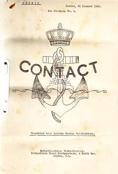 Contact, maandblad voor Interne Marine Voorlichting Geheime status: Netherland Naval Headquarters