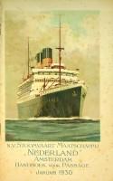 Handboek voor Passage Juli 1930 Stoomvaart Maatschappij Nederland: SMN