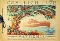 Brochure Cosulich Line Saturnia: Cosulich Line