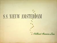 Brochure ss. Nieuw Amsterdam: Brochure Holland Amerika Lijn