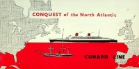 Brochure Cunard Conquest of the North Atlantic: Cunard