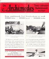 Brochure Archimedes Twee Cylinder Buitenboordmotor Ook wel Balansmotor Archimedes genoemd: ...
