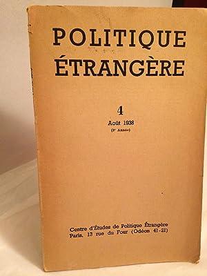 Politique étrangère n°4 (août 1938)