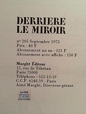 DERRIERE LE MIROIR NO 205: Maeght, A. (editor)