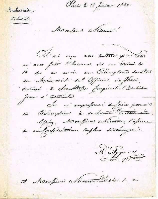 Eigenhänd Brief In Französischer Sprache Mit Unterschrift A