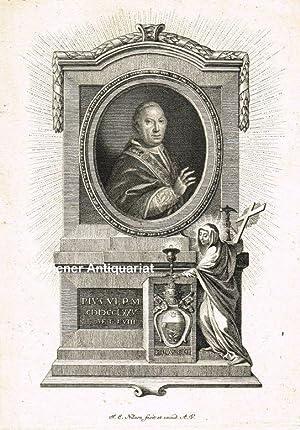 Kupferstich (J. E. NILSON fecit et excud.: PIUS VI. Braschi,