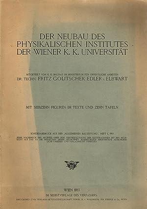 Der Neubau des physikalischen Institutes der Wiener: GOLITSCHEK EDLER V.