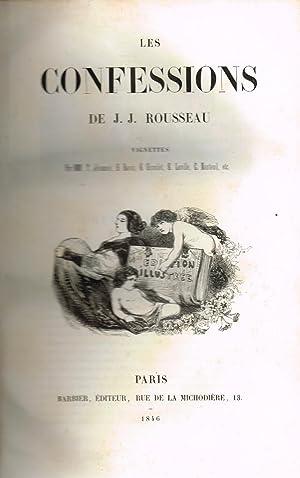 Les confessions. Vignettes par MM.: ROUSSEAU, Jean Jacques