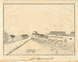 """Rothneusiedel. Lithographie aus """"Historische und topographische Darstellung: ROTHNEUSIEDL - Wien"""