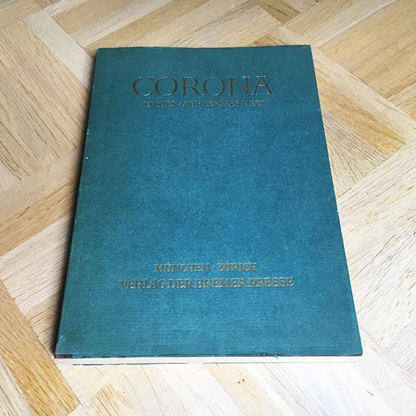 Corona. Erstes Jahr / Erstes Heft (Juli: Bodmer, Martin und