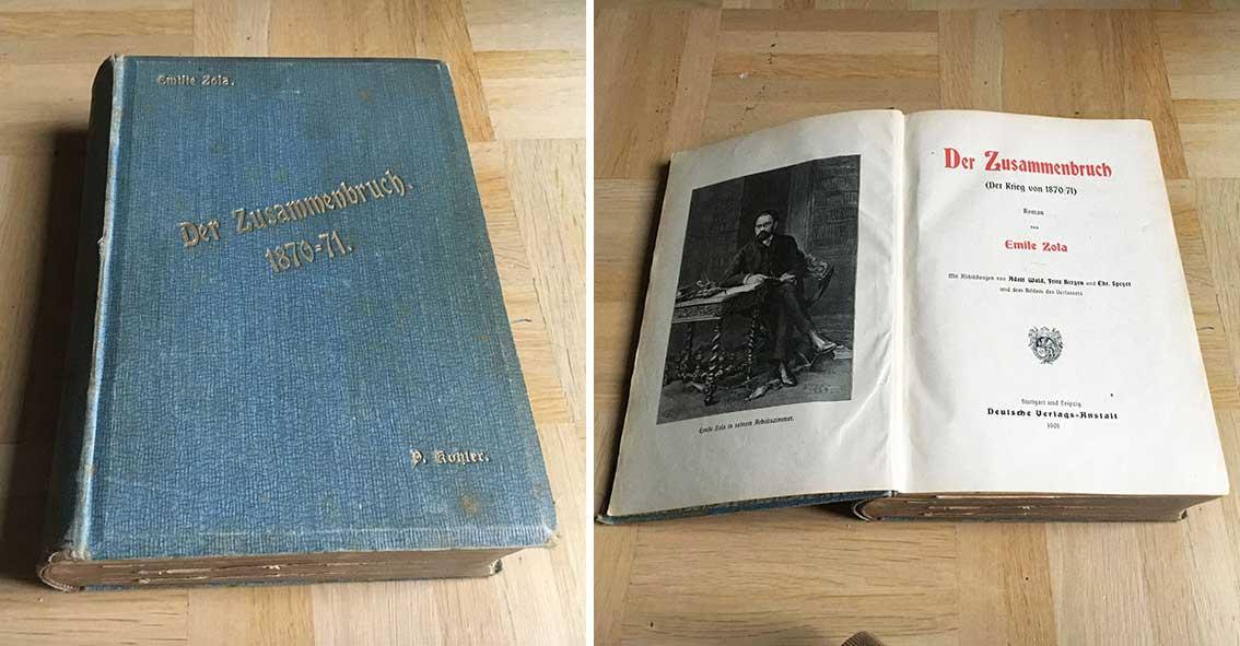 der zusammenbruch der krieg von 1870 81 von zola emile deutsche verlags anstalt stuttgart. Black Bedroom Furniture Sets. Home Design Ideas
