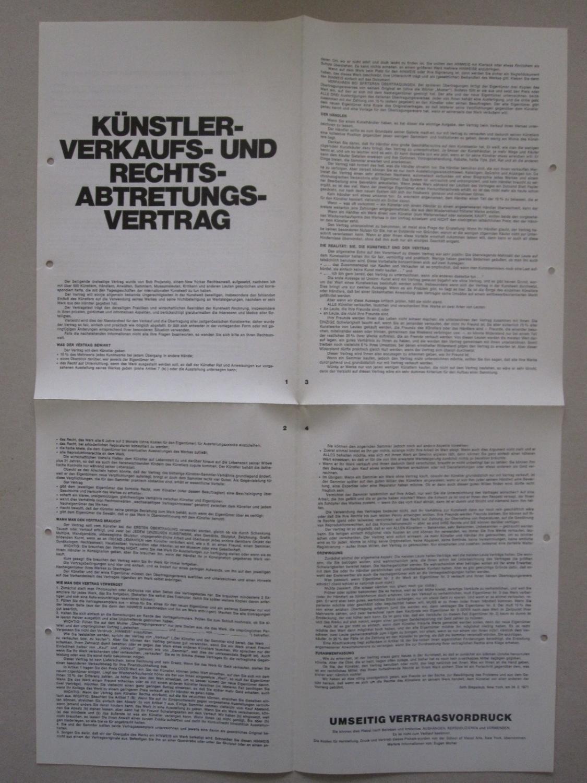 Künstler- Verkaufs- und Rechts- Abtretungsvertrag (The Artist\'s ...