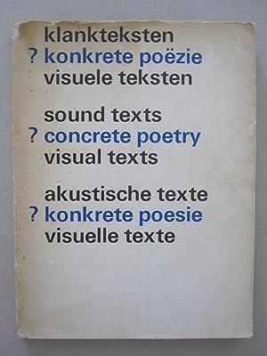 klankteksten ? konkrete poëzie visuele teksten /: Liesbeth Crommelin /