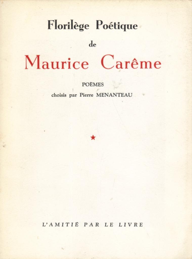 Florilège Poétique De Maurice Carême Poèmes