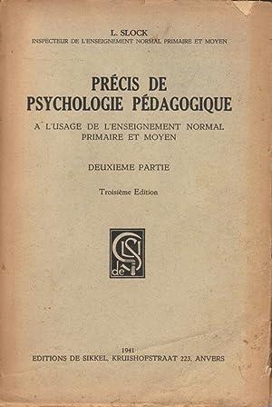 Précis de psychologie pédagogique à l'usage de l'enseignement normal...
