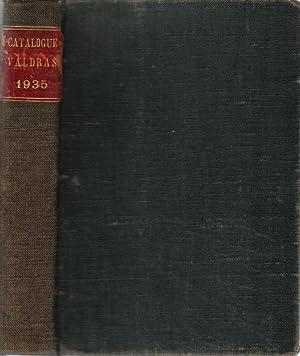 Catalogue Valdras 1935 Répertoire alphabétique des ouvrages français publi&...