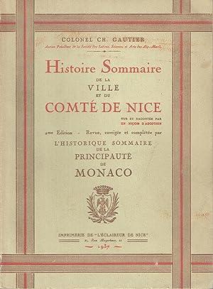 Histoire Sommaire de la Ville, du Comté de Nice et de la Principauté de Monaco: ...