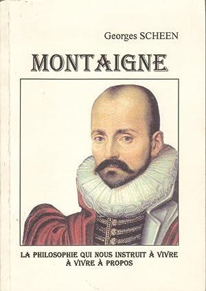 Montaigne: SCHEEN Georges