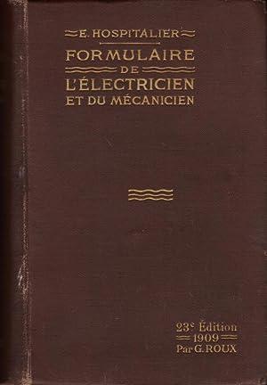 Formulaire de l'électricien et du mécanicien (23ème édition de ...