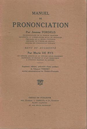 Manuel de prononciation