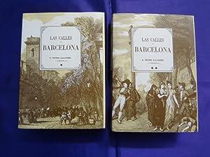 LAS CALLES DE BARCELONA. 2 TOMOS. COMPLETA: C. VICTOR BALAGUER
