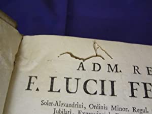 PROMPTA BIBLIOTHECA CANONICA, JURIDICA, MORALIS, THEOLOGICA.COMPLETA: F.LUCII FERRARIS