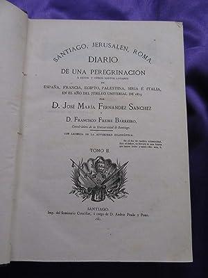 SANTIAGO,JERUSALEN,ROMA.DIARIO DE UNA PEREGRINACION.TOMO II: D. JOSÉ MARÍA FERNÁNDEZ SÁNCHEZ, D. ...