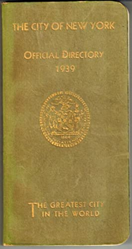 The City of New York Offical Directory 1939: Kelley, Stephen G