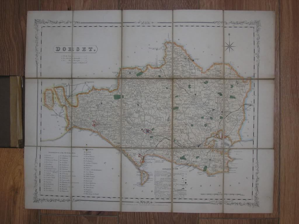 Full Map Of England.England Depicted In A Series Of Splendidly