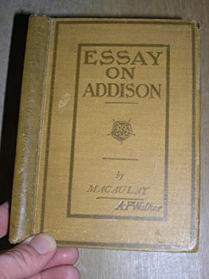 Macaulay s Essay On Addison