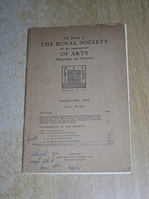 The Journal Of The Royal Society For