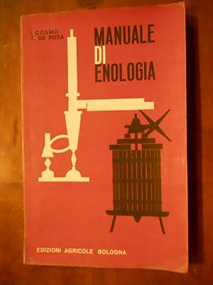 MANUALE DI ENOLOGIA.: AA.VV.