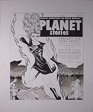 Original Ink Drawing Based on the Cover Art of Planet Stories March 1952: Dee Dee