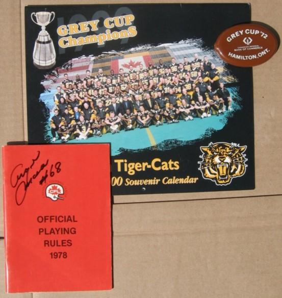 Grey Cup Champions Hamilton Tiger-Cats 50th Anniversary 2000 Souvenir Calendar: November 28, 1999 - (plus) Grey Cup '72 (change purse from Bank of Co (bi_16992640772) photo