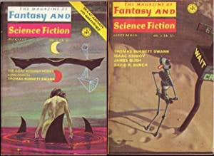 "The Magazine of Fantasy and Science Fiction August & September 1970, 2 Issues featuring ""..."