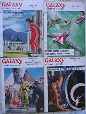 "Galaxy Science Fiction June, July, August & September 1955, 4 Issues featuring ""Preferred ..."