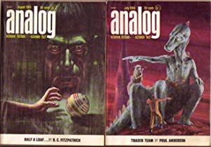 """Analog Science Fact - Fiction July & August 1965, 2 Issues featuring """" Trader Team"""" by ..."""