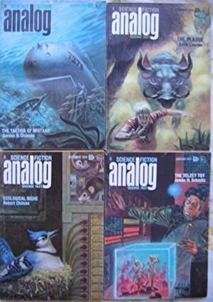 Analog Science Fiction - Science Fact October, November, December 1970 & January 1971, 4 Issues...