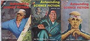 """Astounding Science Fiction October, November & December 1956 3 Issues Featuring """"The Naked..."""