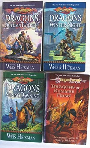 Dragonlance : Chronicles: vol (1) one - Dragons of Autumn Twilight; vol (2) two - Dragons of Winter...