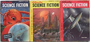 "Astounding Science Fiction October, November & December 1951, 3 issues featuring ""Iceworld..."