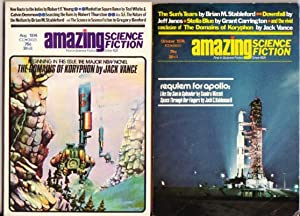 """Amazing Science Fiction August & October 1974 Featuring """"The Domains of Koryphon"""" (The ..."""