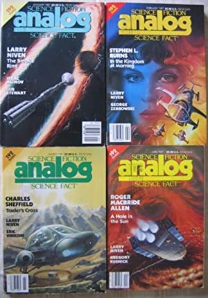 Analog Science Fiction - Science Fact , January, February, March & April 1987 - 4 issues ...