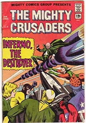 """The Mighty Crusaders # (2) two, January 1966 -Origin of the """"Comet"""" (comic): The Mighty ..."""