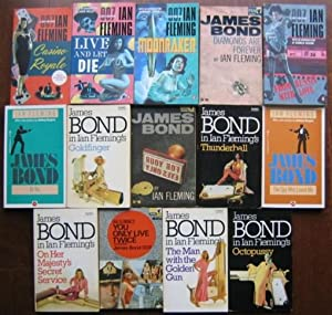 James Bond: Casino Royale; Live Let Die; Moonraker; Diamonds are Forever; From Russia Love; Dr No; ...