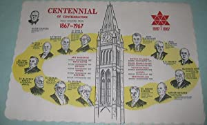 Centennial of Confederation: Canadian Prime Ministers from 1867 to 1967 -12 paper Placemats (Place ...
