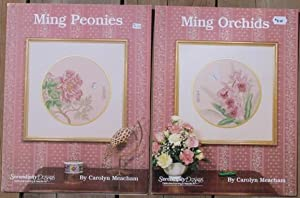 Serendipity Designs: Ming Peonies (with) Ming Orchids; -(2 illustrated cross stitch guides)