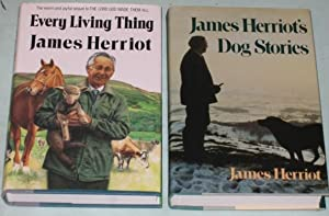 James Herriot (grouping) Every Living Thing; (with) James Herriot's Dog Stories; -(SIGNED by Jim ...